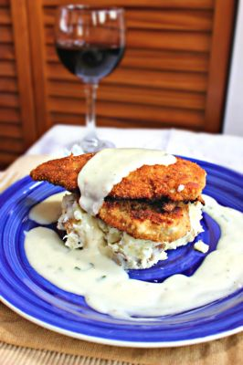 Pan Seared Chicken Cutlets & Lemon Basil White Sauce
