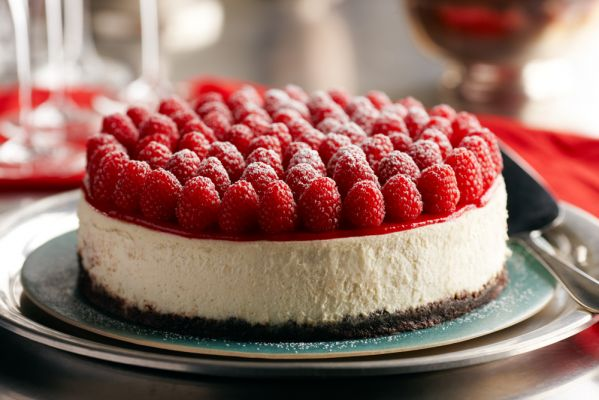 Raspberry Grand Marnier Cheesecake