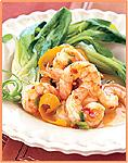Shrimp with Bok Choy and Ginger