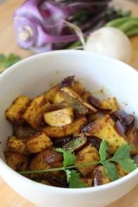 Rabioles (or Turnips) and/or Kohlrabi in Indian Spice