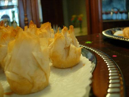 Cilantro Chicken Phyllo Purses