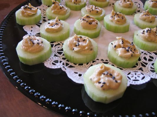 Your loyal cucumber and hummus appetizer solution.
