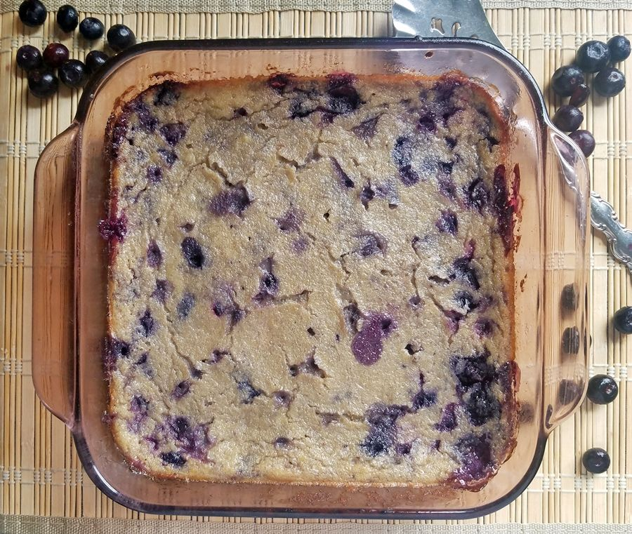 Blueberry Spoon Bread