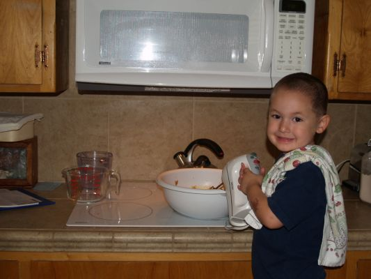My Son Helping Bake Cookies