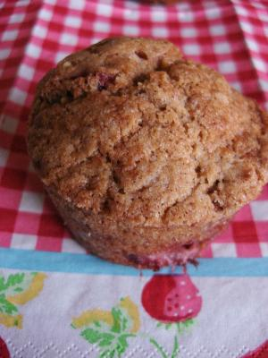 Strawberry Walnut Muffins