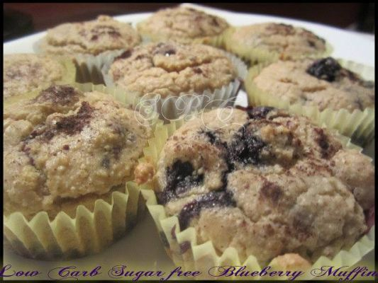 Low Carb.. Sugar Free Blueberry Muffins