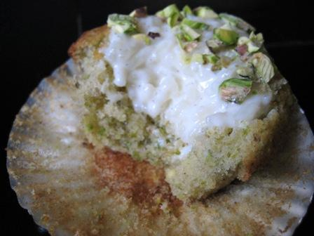 Pistachio Cardamom Cupcakes with Rice Pudding Filling