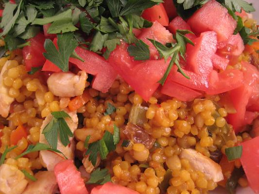 Couscous with Chicken and Moroccan spices