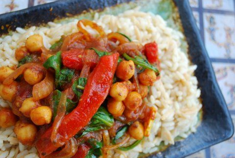Indian/Moroccan Inspired Chickpea Dish