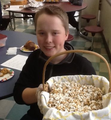 Erik U's crunchy caramel popcorn modified from Suzy