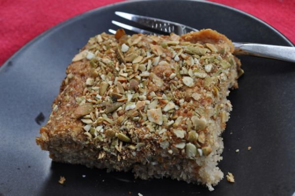 Welcoming Kitchen's Gluten Free Vegan Apple Coffee Cake with Chia Seeds