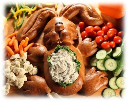 Veggie Rabbit Dip Bowl