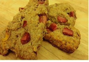 Strawberry and Oat Scone