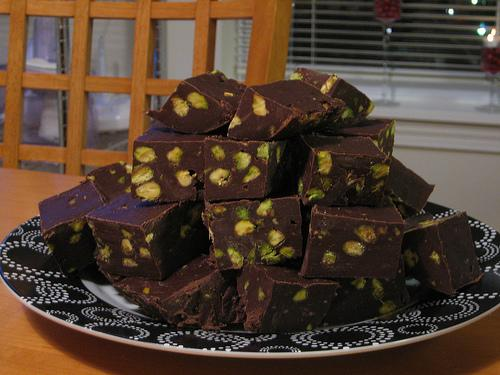 Nigella Lawson's Chocolate Pistachio Fudge