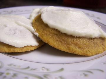 Moist and Delicious Iced Pumpkin Cookies