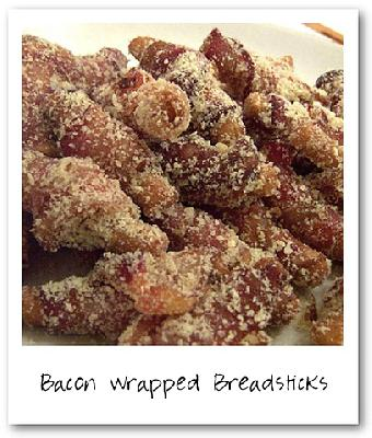 Paula Deen's Bacon Wrapped Breadsticks