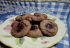 Chocolate Raspberry Cookie Delights