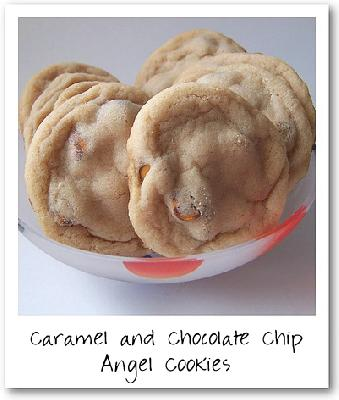 Caramel and Chocolate Chip Angel Cookies