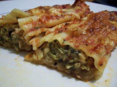 Spinach and Cheese Manicotti