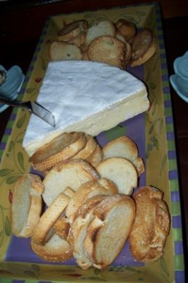French Brie with sliced le panette