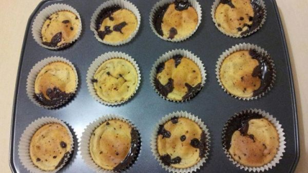 Banana Cupcakes with Choc Chip Pieces