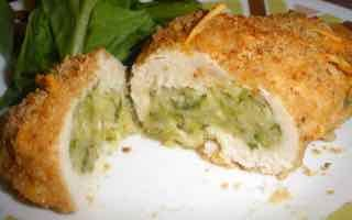 Chicken Rollatini stuffed with Zucchini and Mozzarella