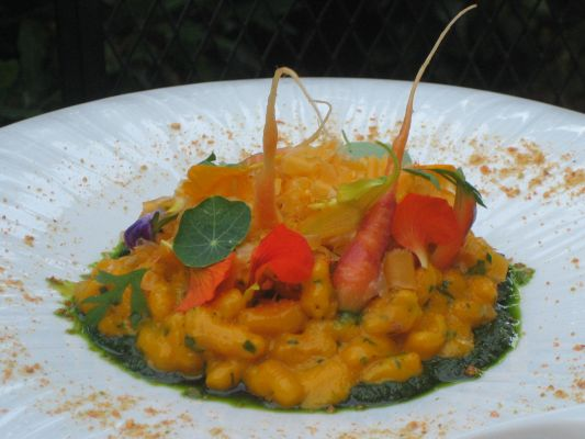 My favorite recent meal -- carrot gnocchi at Ubuntu in Napa Valley