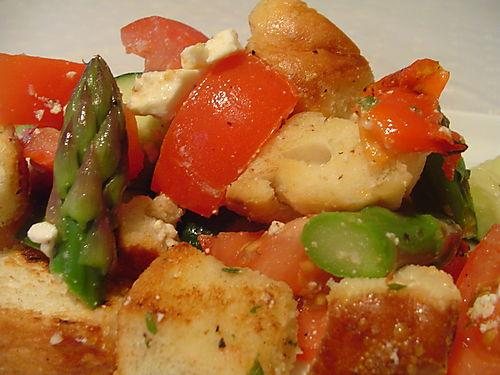 Greek Style Panzanella Salad On