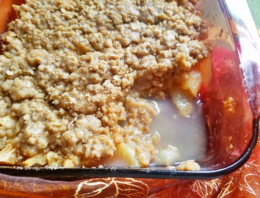 Easy Pear Apple Crisp