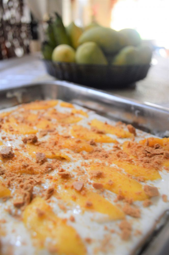 MANGO GRAHAM ICEBOX CAKE
