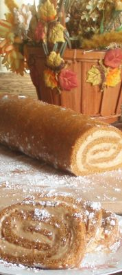 Pumpkin Molasses Mousse Roll