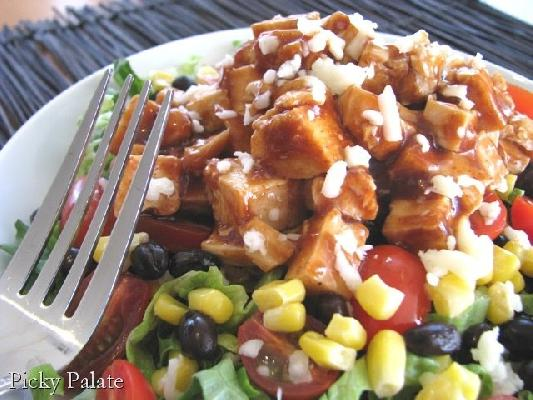 BBQ Chicken Salad with Cilantro Ranch Dressing