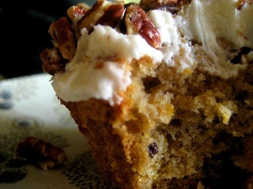 Acorn Squash Cupcakes with Currants, Salted Buttercream and Toasted Pecans