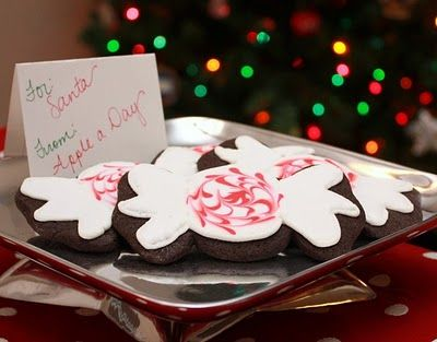 Chocolate Peppermint Cookies with Royal Icing