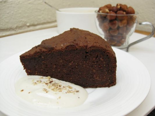Gluten Free Flourless Chocolate Nutella Cake