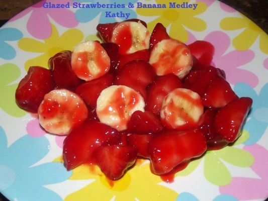 Glazed Strawberries & Banana Medley