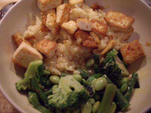 Spicy Stir-Fried Tofu with Coconut Rice