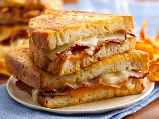 Betty Crocker Beer Battered Grilled Cheese Sandwiches