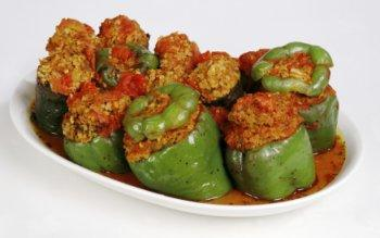 Easy Crockpot Stuffed Bell Peppers