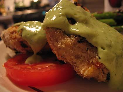 Tuna Cakes with Avocado Sauce