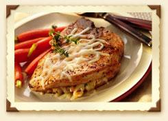 Provolone-Stuffed Pork Chops
