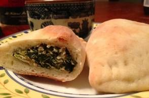 Gen's Spinach (or Swiss Chard or Kale) Calzone