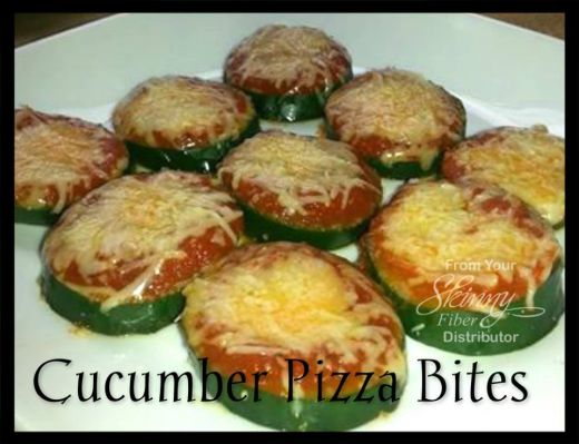 Cucumber Pizza Bites