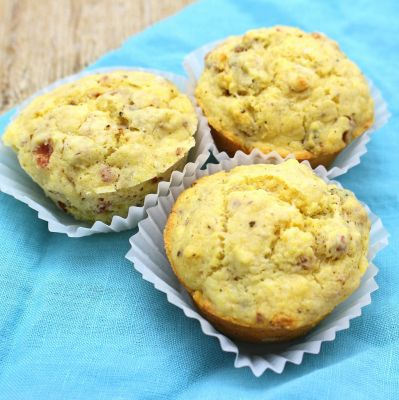 Bacon and Caramelized Vidalia Onion Corn Muffins