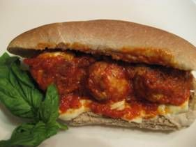 Roasted Red Pepper Meatball Sub