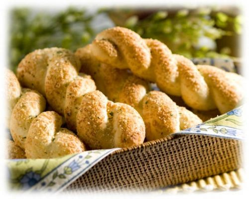 Twisty Buttery Breadsticks