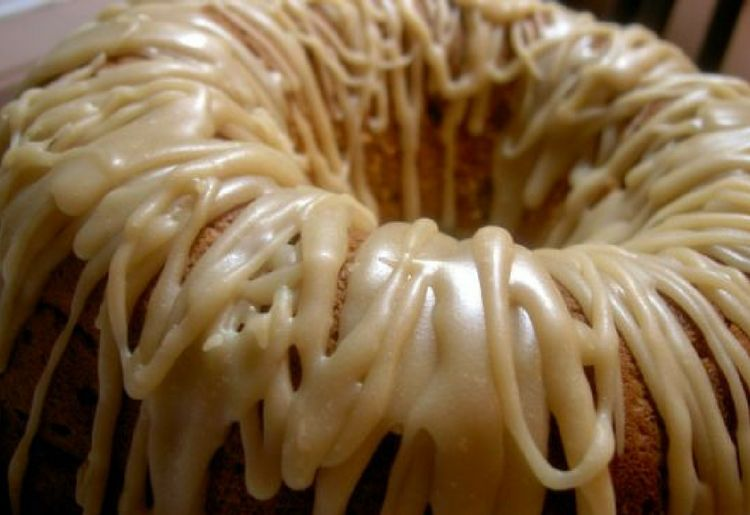 Buttermilk Apple Bundt Cake with Penuche Frosting
