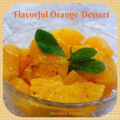 Flavorful Orange Dessert