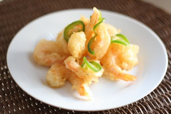 Shrimp with Honey Jalapeño Sauce