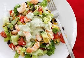 Mexican Shrimp Cobb Salad (Weight Watchers Friendly)